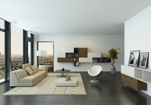 Innovative Wellliked Large Low White Coffee Tables Regarding Living Room Modern Minimalist Contemporary Wall Living Room (Image 35 of 50)