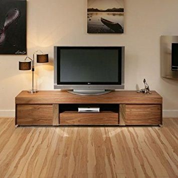 Innovative Wellliked Large TV Cabinets Regarding Large Tvtelevision Cabinetentertainment Unitcenter Walnut Wood (View 46 of 50)