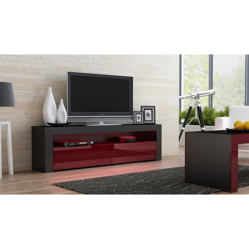 Innovative Wellliked Milano TV Stands In Black Gloss Tv Stand Milano 157 Concept Muebles (Image 30 of 50)