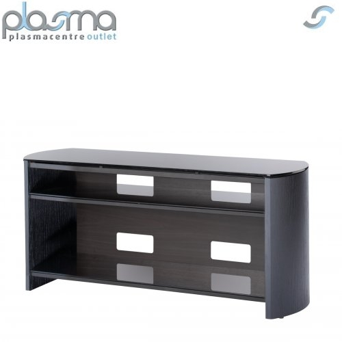 Innovative Wellliked Oak Veneer TV Stands Throughout Black Oak Veneer Tv Stand For Screens Up To 50 Ebay (View 30 of 50)