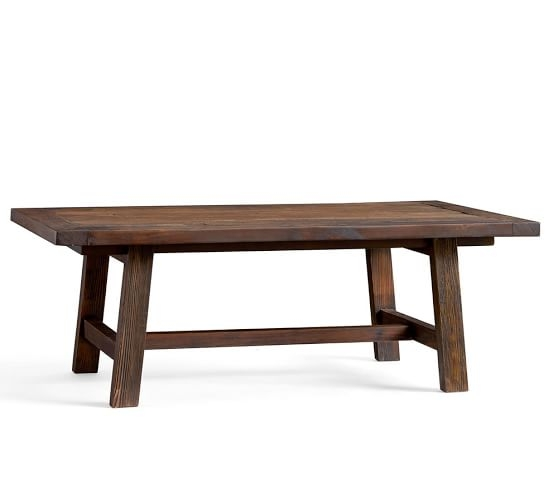 Innovative Wellliked Old Pine Coffee Tables Throughout Bartol Reclaimed Pine Coffee Table Pottery Barn (Image 30 of 50)