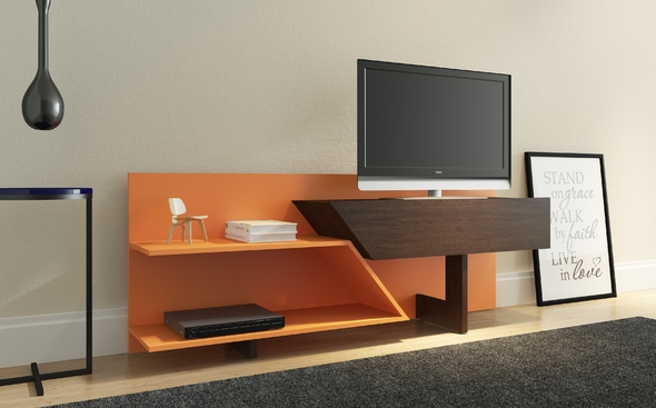 Innovative Wellliked Orange TV Stands Within Prisma Espresso Orange Tv Stand 23802eo Ideaz International Tv (View 41 of 50)