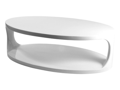 Innovative Wellliked Oval White Coffee Tables Pertaining To Portland Furniture Online Euro Style Sarita Oval Coffee Table (View 15 of 50)