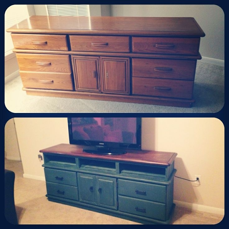 Innovative Wellliked Painted TV Stands Intended For 11 Best Dresser To Tv Stand Images On Pinterest Furniture (Image 29 of 50)