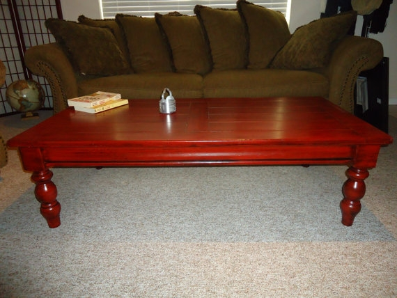 Innovative Wellliked Red Coffee Table In Rustic Red Coffee Table Rustic Red Coffee Table Nanudeal (Image 36 of 50)
