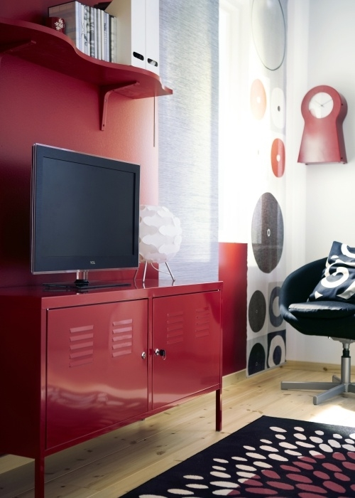 Innovative Wellliked Red TV Cabinets With Regard To Ikea Ps Cabinet Red Tv Tables Ikea Ps And Lockers (Image 33 of 50)