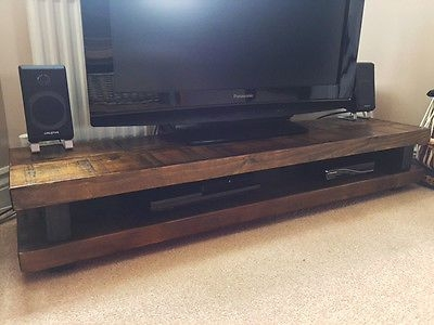 Innovative Wellliked Rustic Oak TV Stands Intended For Best 25 Solid Wood Tv Stand Ideas On Pinterest Reclaimed Wood (View 34 of 50)