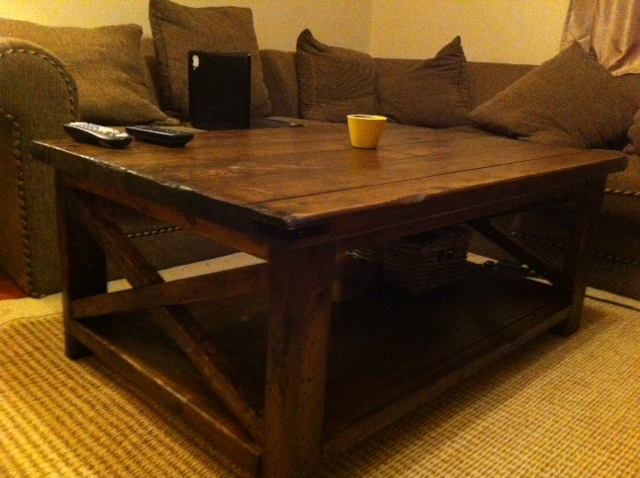 Innovative Wellliked Rustic Wood DIY Coffee Tables With Regard To Rustic Coffee Table Plans (Image 32 of 50)