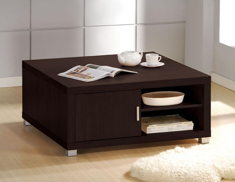 Innovative Wellliked Square Coffee Tables With Drawers Regarding Square Espresso Coffee Table (View 24 of 40)