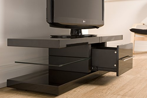 Innovative Wellliked Techlink Echo Ec130tvb TV Stands Within Techlink Echo Ec130b Audio Visual Furniture Black With Drawer (Image 29 of 50)