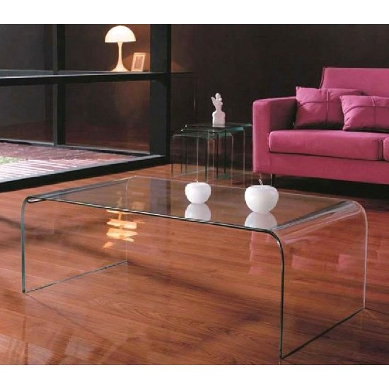 Innovative Wellliked Transparent Glass Coffee Tables Within Coffee Table Breathtaking Bent Glass Coffee Table Toronto Bent (Image 31 of 50)