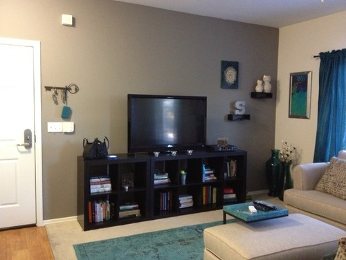 Innovative Wellliked TV Stands And Bookshelf With Regard To New Media Stand Out With The Ikea Bookshelf (View 24 of 50)