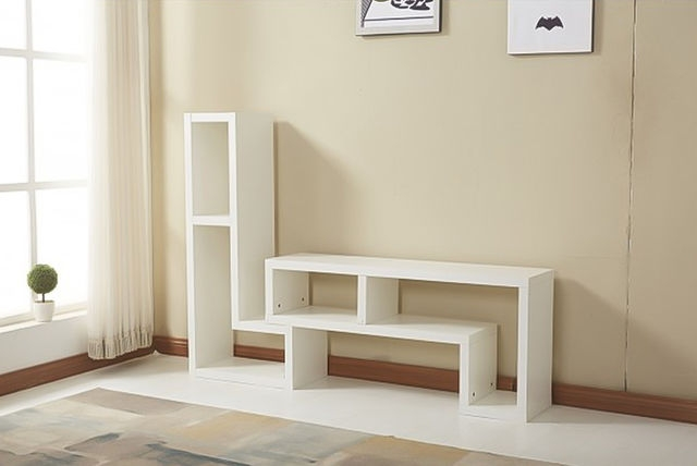 Innovative Wellliked Ultra Modern TV Stands With Regard To Ultra Modern L Shaped Double Tv Cabinet 2 Colours (Image 27 of 50)
