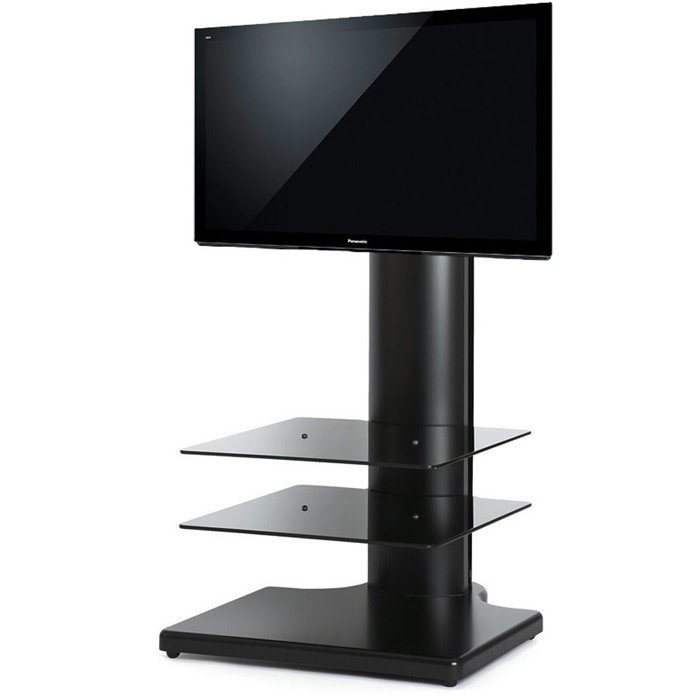 Innovative Wellliked White Cantilever TV Stands Pertaining To The Wall Origin S1 Cantilever Tv Stand In Black For Tvs Up To  (Image 32 of 50)