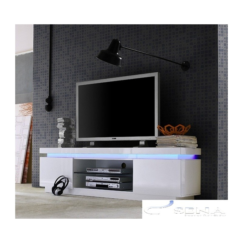 Innovative Wellliked White Gloss Corner TV Stands In Avanti Ii Gloss Tv Stand With Rgb Lights Tv Stands Sena Home (View 30 of 50)