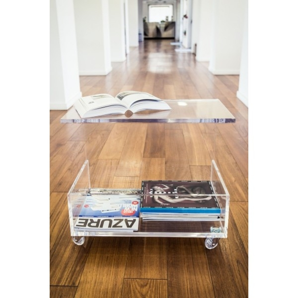 Innovative Widely Used Acrylic Coffee Tables With Magazine Rack For Perspex Clear Acrylic Coffee Table With Magazine Rack (View 14 of 40)