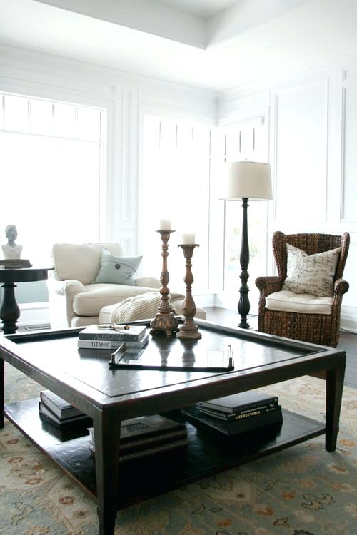 Innovative Widely Used Big Black Coffee Tables Within Coffee Table Big Black Square Coffee Table How To Decorate A Big (Image 34 of 50)