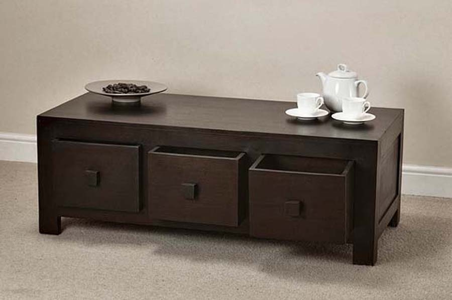 Innovative Widely Used Dark Wood Chest Coffee Tables Pertaining To Round Coffee Tables With Storage (Image 36 of 50)