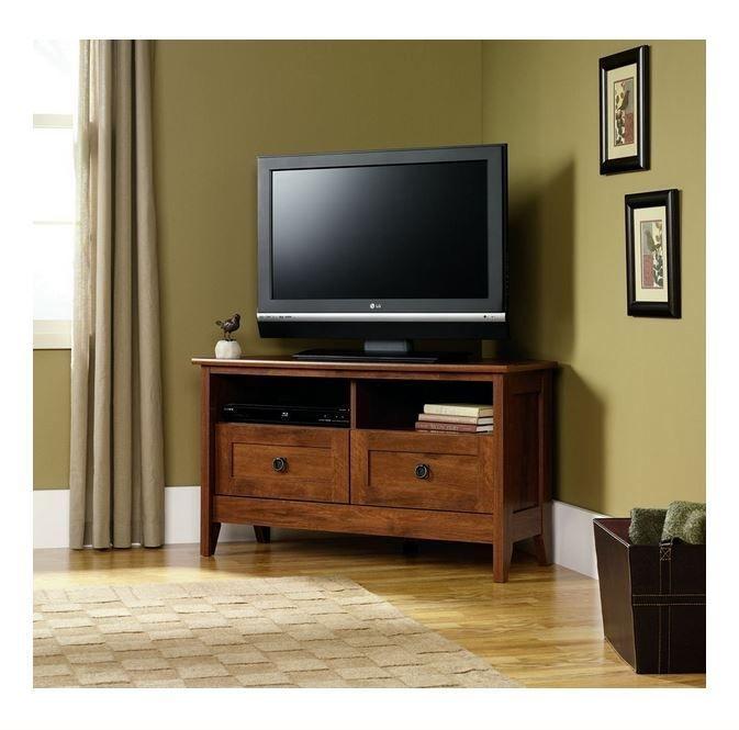 Innovative Widely Used Dark Wood TV Stands Regarding Best 10 Tv Stand Corner Ideas On Pinterest Corner Tv Corner Tv (View 13 of 50)