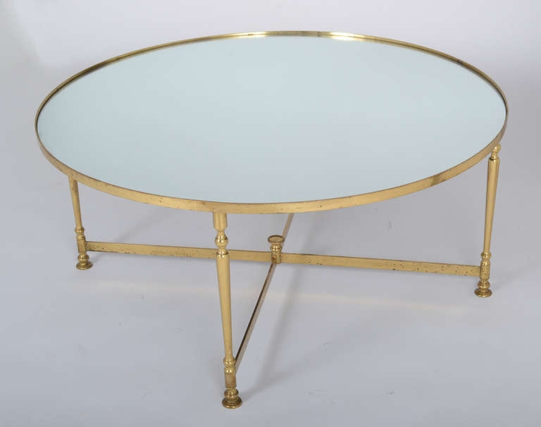 Innovative Widely Used Floating Glass Coffee Tables Regarding Living Room The Elegant Round Brass Coffee Table Frame Glass In (Image 30 of 50)