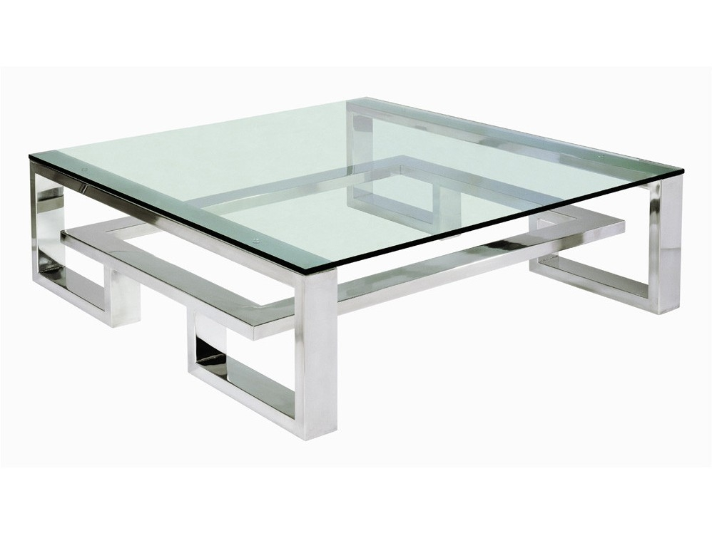 Innovative Widely Used Large Square Low Coffee Tables With Regard To Coffee Tables Modern And Unique Glass And Metal Coffee Tables (Image 33 of 50)