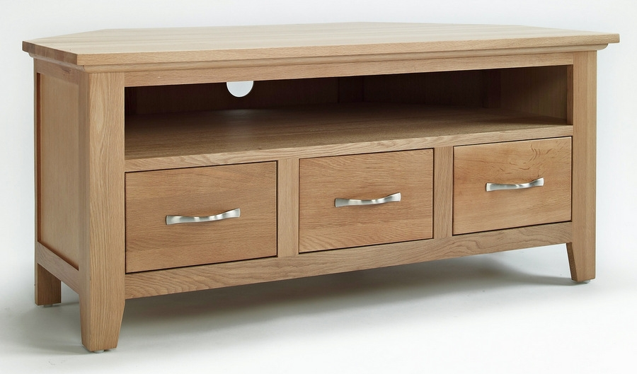 Featured Image of Light Oak Corner TV Stands
