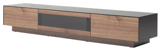 Innovative Widely Used Modern Walnut TV Stands Regarding Modrest Darius Modern Walnut Tv Stand Modern Entertainment (View 15 of 50)