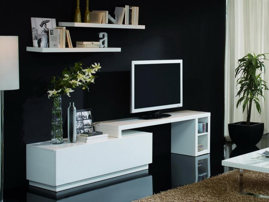 Innovative Widely Used Modern White Gloss TV Stands With Regard To Tv Stands Inspiring Modern White Gloss Tv Stand White High Gloss (Image 28 of 50)