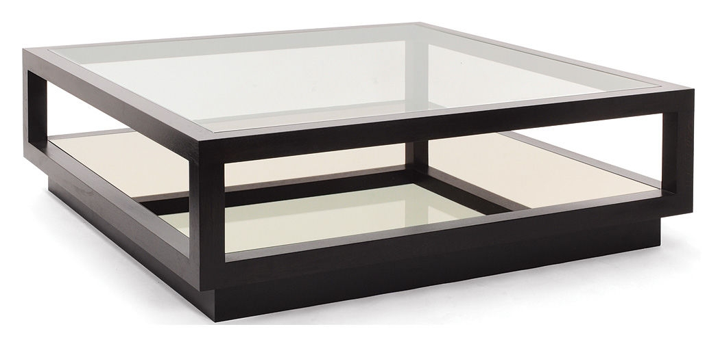 Innovative Widely Used Oak And Glass Coffee Tables Throughout Contemporary Coffee Table Glass Square Infinity Decorus (Image 32 of 50)