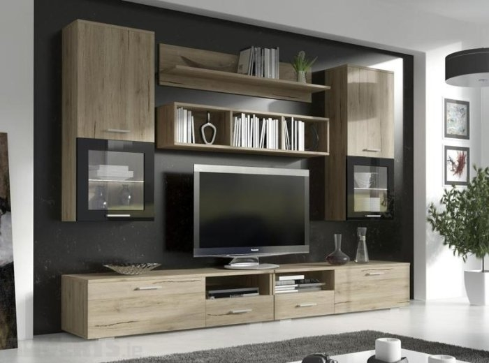 Innovative Widely Used TV Stand Wall Units Throughout Tv Stands Top 10 Diy Tv Stands With Shelves Design Tv Stand With (Image 36 of 50)