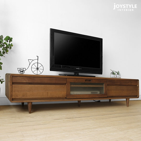 Innovative Widely Used TV Stands Rounded Corners Intended For Joystyle Interior Rakuten Global Market Width 180 Cm Ash Wood (Image 33 of 50)