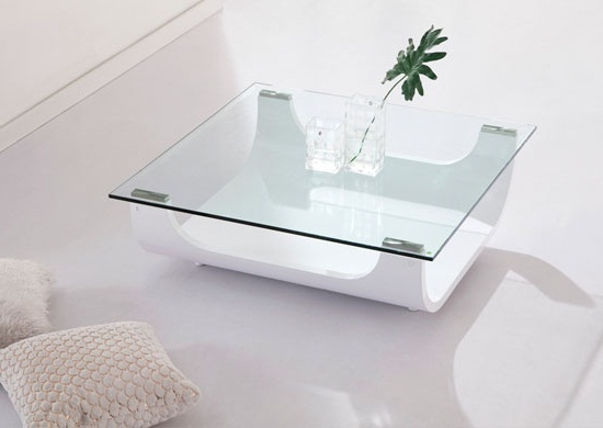 Innovative Widely Used White And Glass Coffee Tables Throughout Mesmerizing White Round Coffee Table Ideas (Image 25 of 40)