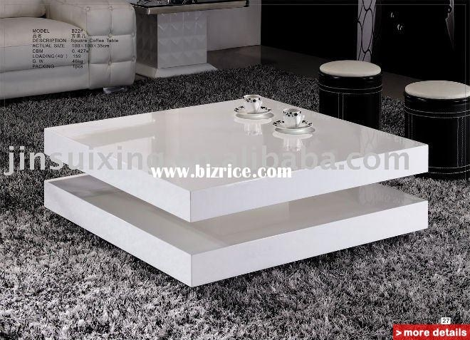 Innovative Widely Used White Gloss Coffee Tables For White Coffee Table Bizrice (View 49 of 50)