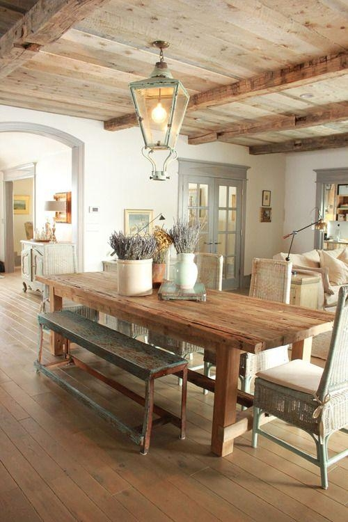 Inspirations On The Horizon: Coastal Dining Rooms Regarding Coastal Dining Tables (Image 17 of 20)