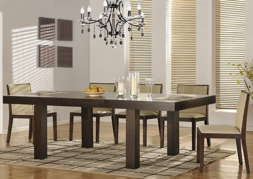Inspiring Contemporary Dining Room Table Sets Images – 3D House With Regard To Contemporary Dining Tables Sets (Image 10 of 20)