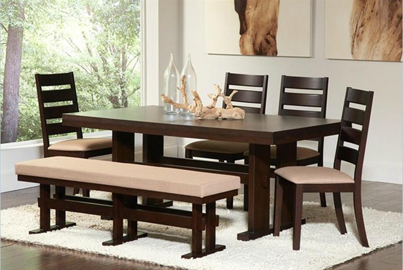 Inspiring Dining Room Bench Seats Gallery – 3D House Designs With Dining Tables Bench Seat With Back (View 9 of 20)