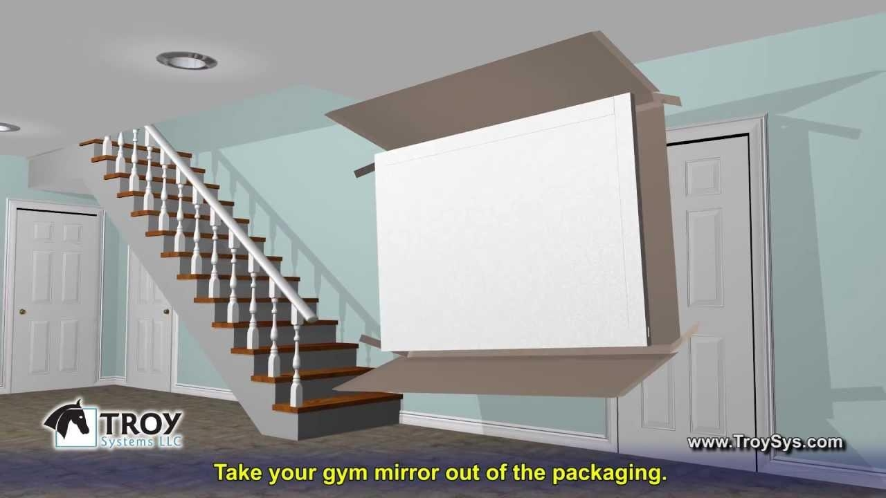 Installing Gym Mirrors | Custom Mirrors For Yoga Studios, Home Throughout Ceiling Mirrors For Sale (Image 15 of 20)