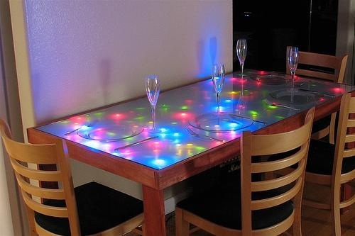 Interactive Led Dining Table | Evil Mad Scientist Laboratories With Regard To Led Dining Tables Lights (Image 7 of 20)