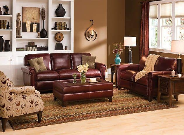 20 inspirations burgundy leather sofa sets sofa ideas for Living room ideas with burgundy sofa