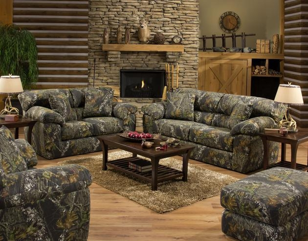 Interesting Camo Living Room Furniture Mossy Oak Camouflage With Camo Reclining Sofas (View 18 of 20)