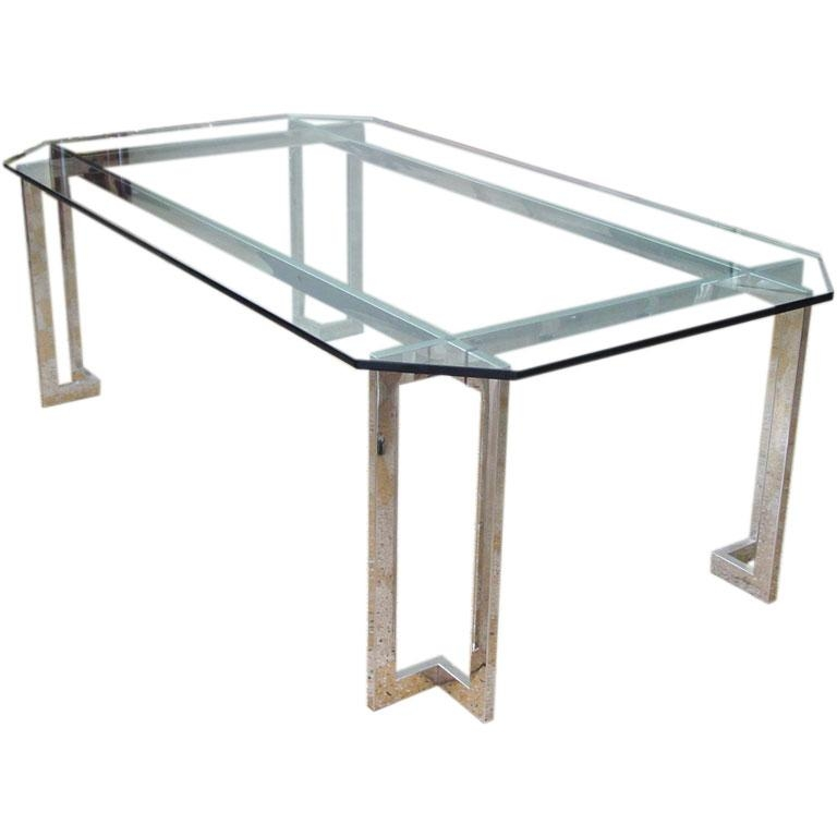 Interesting Ideas Stainless Dining Table Enjoyable Stainless Steel Regarding Glass And Stainless Steel Dining Tables (Image 11 of 20)