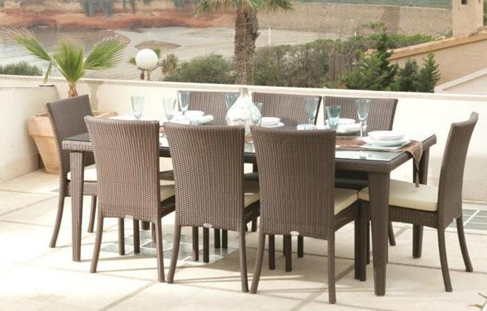 Interesting Rattan Dining Table | All Dining Room With Regard To Rattan Dining Tables And Chairs (Image 11 of 20)