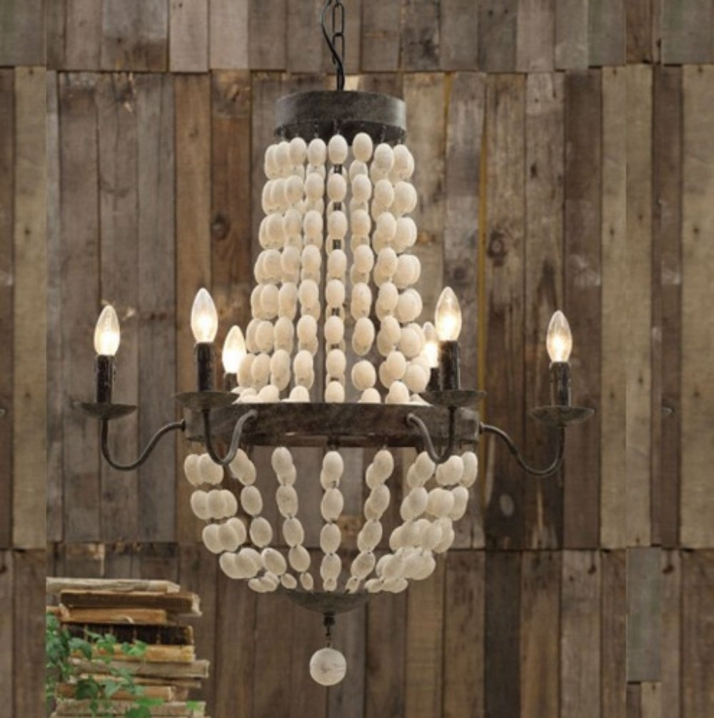 Interior Amazing Ceiling Light Wood Bead Chandelier For Home Within Turquoise Wood Bead Chandeliers (Image 22 of 25)