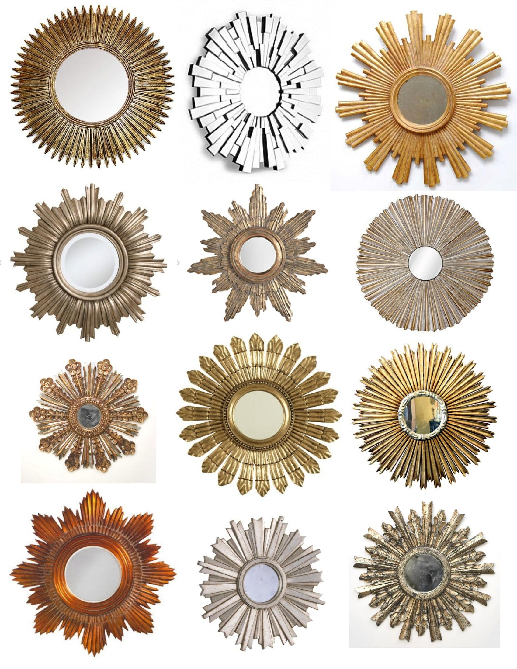 Interior & Decor: Starburst Mirror | Martha Stewart Sunburst Pertaining To Bronze Starburst Mirror (Image 9 of 21)
