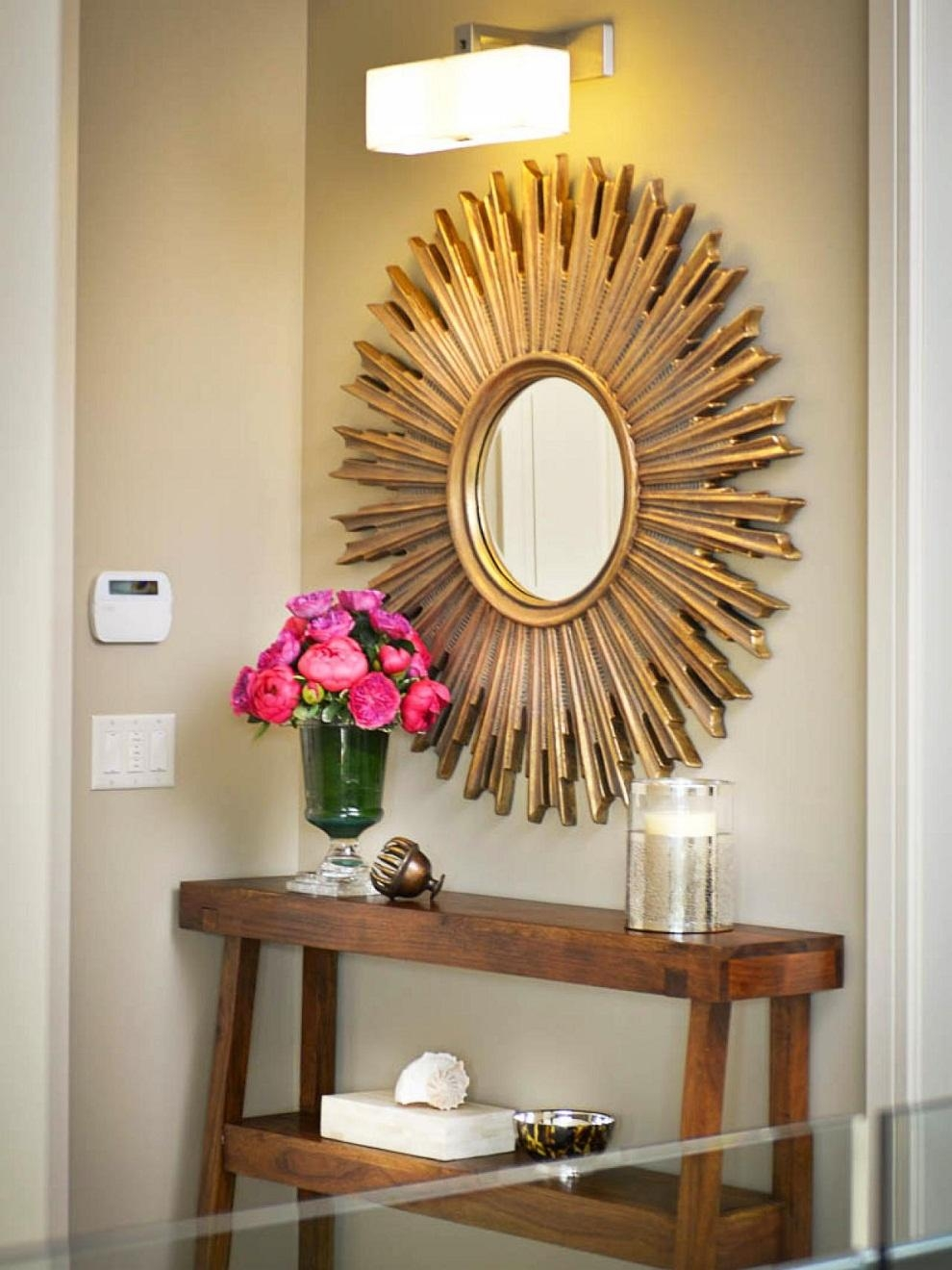 Interior & Decor: Starburst Mirror | Martha Stewart Sunburst Within Starburst Convex Mirror (Image 10 of 20)