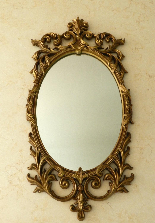 Interior : Decorative Gold Mirrors Throughout Delightful Vintage Regarding Vintage Gold Mirrors (Image 13 of 20)