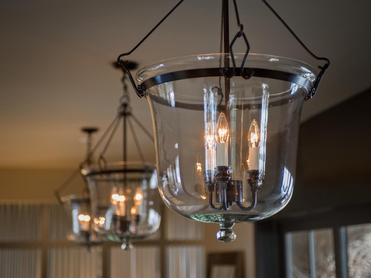 Interior Foyer Lights With Steel Cage And Chandelier Using Glass With Regard To Hallway Chandeliers (Image 17 of 25)