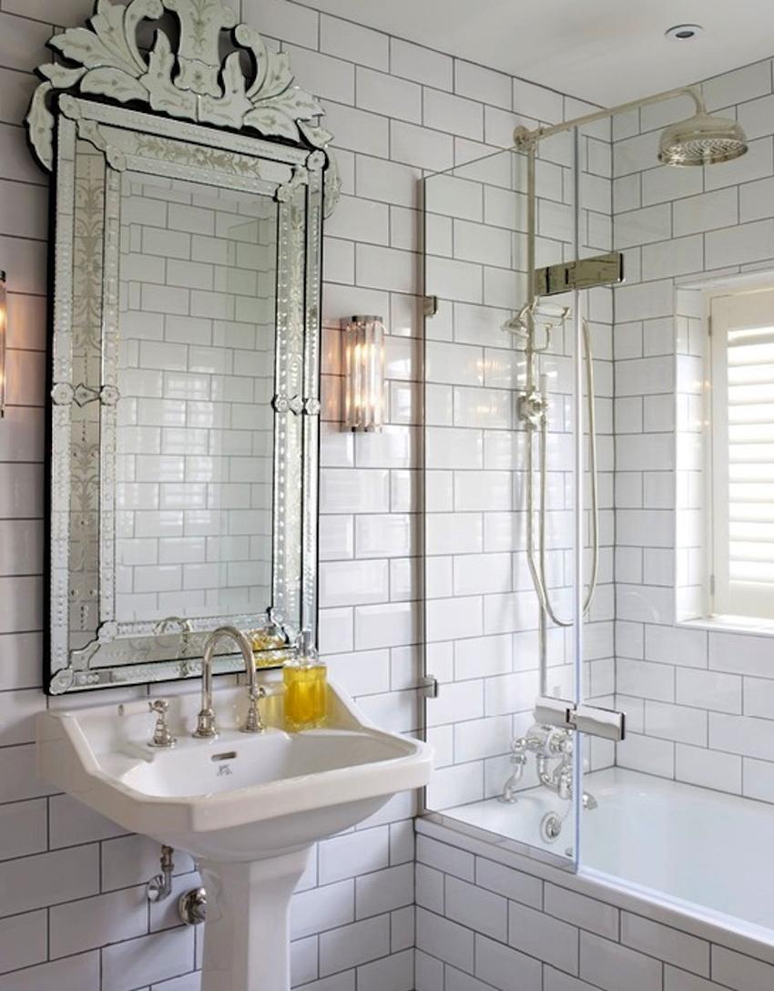 Interior: Frameless Wall Mirrors Cheap | Venetian Mirror | Cheap For Antique Mirrors Cheap (Image 15 of 20)