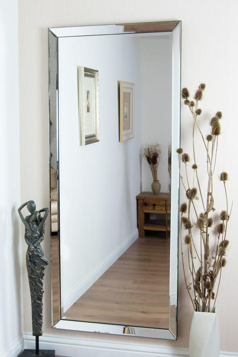 Interior: Mesmerizing Frameless Full Length Mirror For Home In Full Length Venetian Mirror (Image 13 of 20)