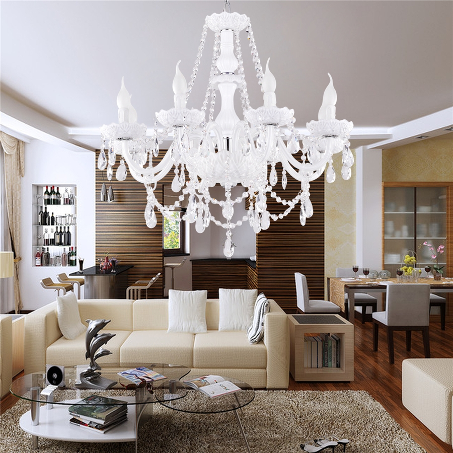 Interior Modern Chandeliers Lighting For High Ceiling Living Room Intended For Living Room Chandeliers (Image 14 of 25)